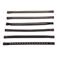 Browband Black Leather